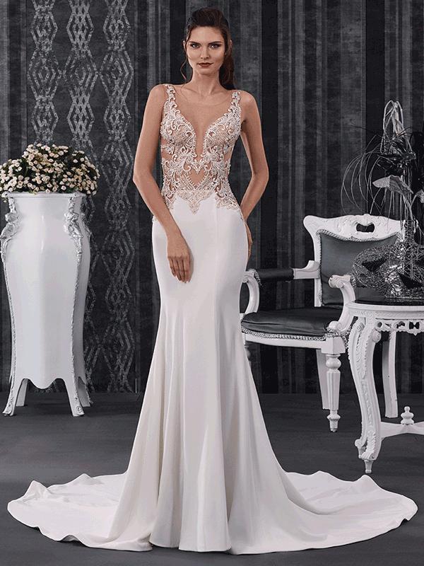 abito da sposa provocante